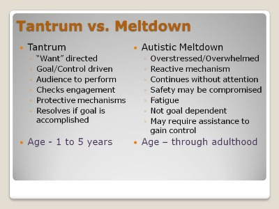 This is pretty much my previous understanding of the meltdown-vs-tantrum topic.