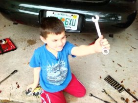 """""""Here's the wrench, Daddy."""""""